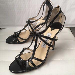 Jimmy Choo Black Patent Leather Heels 38 1/2